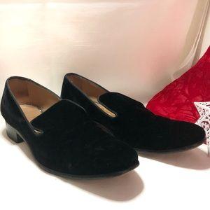 Salvatore Ferragamo black suede loafer size 7